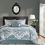 Madison Park Bella Comforter Set-Casual Damask Design All Season Cozy...