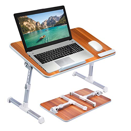 [Large Size] Neetto Height Adjustable Laptop Bed Desk, Portable Laptop...