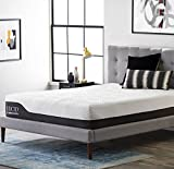 LUCID 12 Inch Queen Hybrid Mattress - Bamboo Charcoal and Aloe Vera Infused...