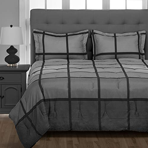 Bare Home Bedding Set 5 Piece Comforter & Sheet Set - Twin XL - Goose Down...