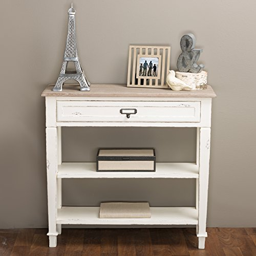 Baxton Studio Dauphine Traditional French 1-Drawer Accent Console Table,...