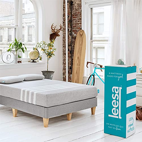 Leesa Original Bed-in-a-Box, Three Premium Foam Layers Mattress, Queen,...