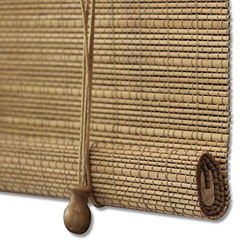 ZY Blinds Bamboo Window Blinds, Light Filtering Roll Up Blinds with...