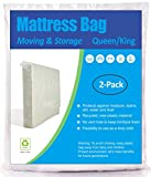 ComfortHome 2 Pack Mattress Bag for Moving and Storage, Queen/King Size