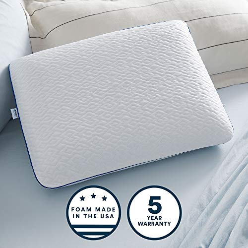 Sleep Innovations Forever Cool Gel Memory Foam Standard Pillow with Cooling...