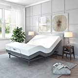 Classic Brands Comfort Upholstered Adjustable Bed Base with Massage,...