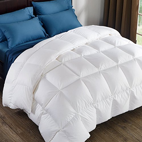 puredown 800 Fill Power Natural White Goose Down Comforter 700 Thread Count...