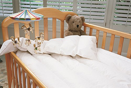 Just for Baby White Down Comforter White Crib