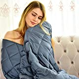 WONAP Cooling Weighted Blanket | 100% Natural Bamboo with Premium Glass...