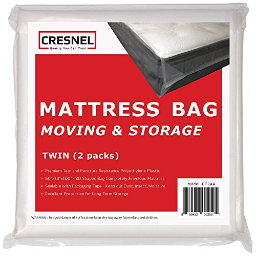 CRESNEL Mattress Bag for Moving & Long-Term Storage - Queen Size - Enhanced...