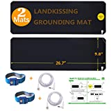 LandKissing® Grounding Mats Kit (2sets) for Healthy Earth Energy with 2...