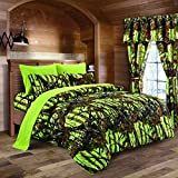 - Spring Cleaning Sale - Lime Camouflage King Size 8pc Comforter, Sheet,...