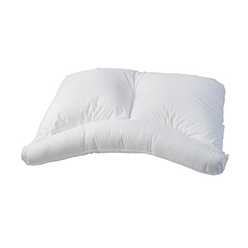 9 healthsmart side sleeper pillow curved center lobe side sleeping pillow white
