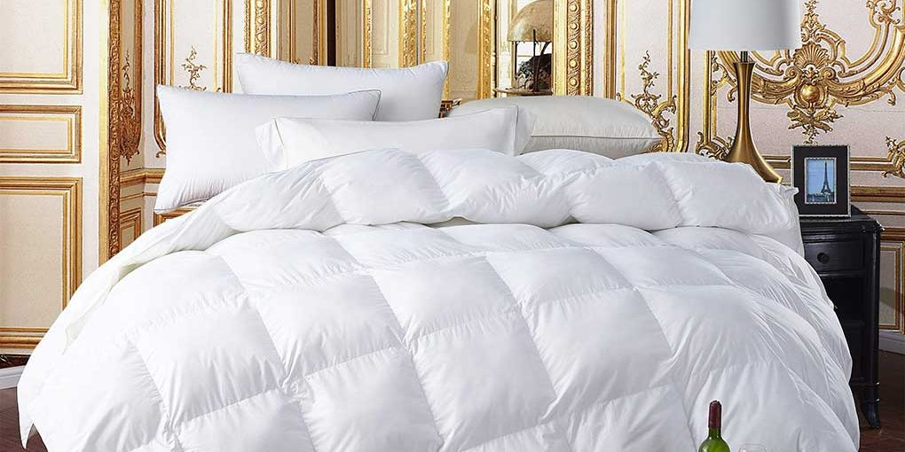 Egyptian Bedding Luxury Siberian Goose Down Comforter