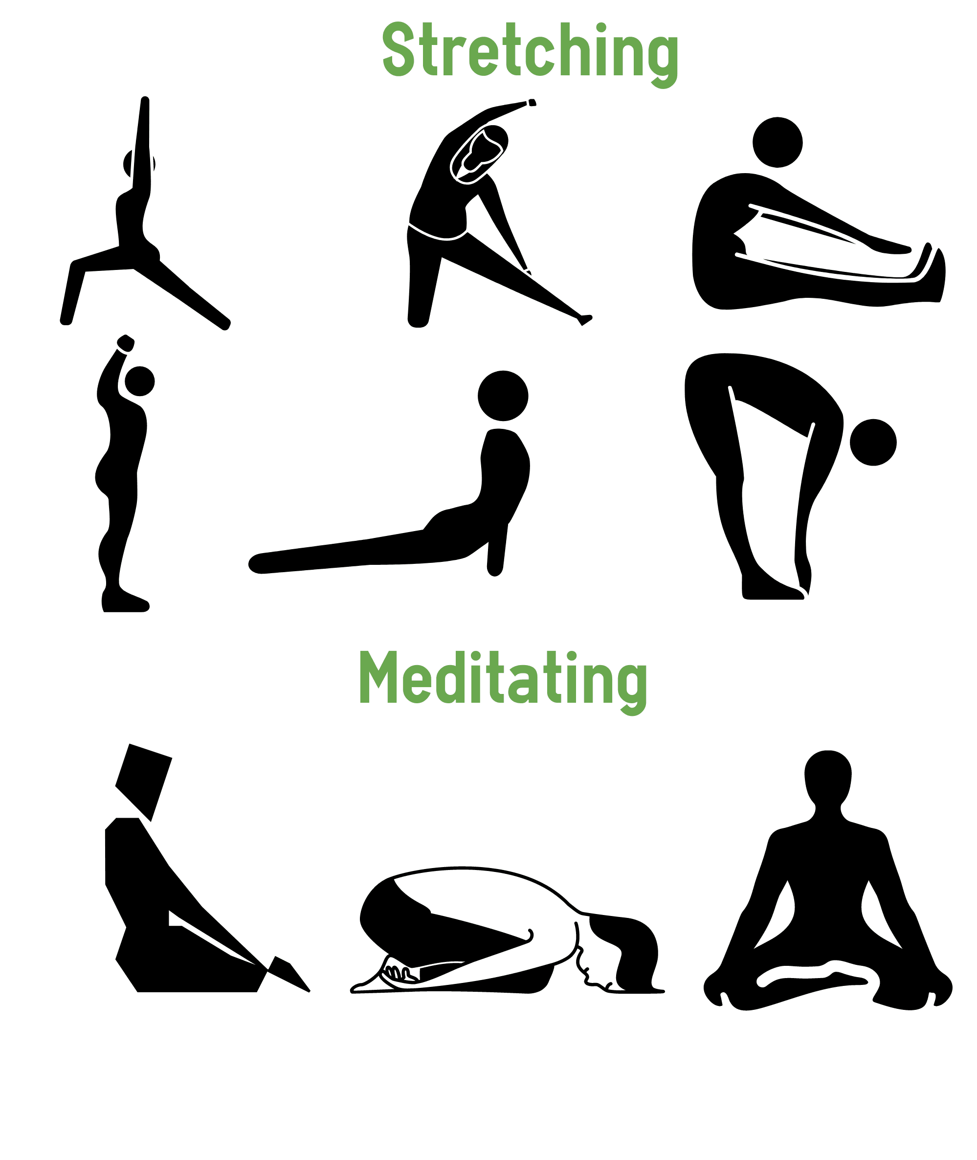 Stretching and Meditating