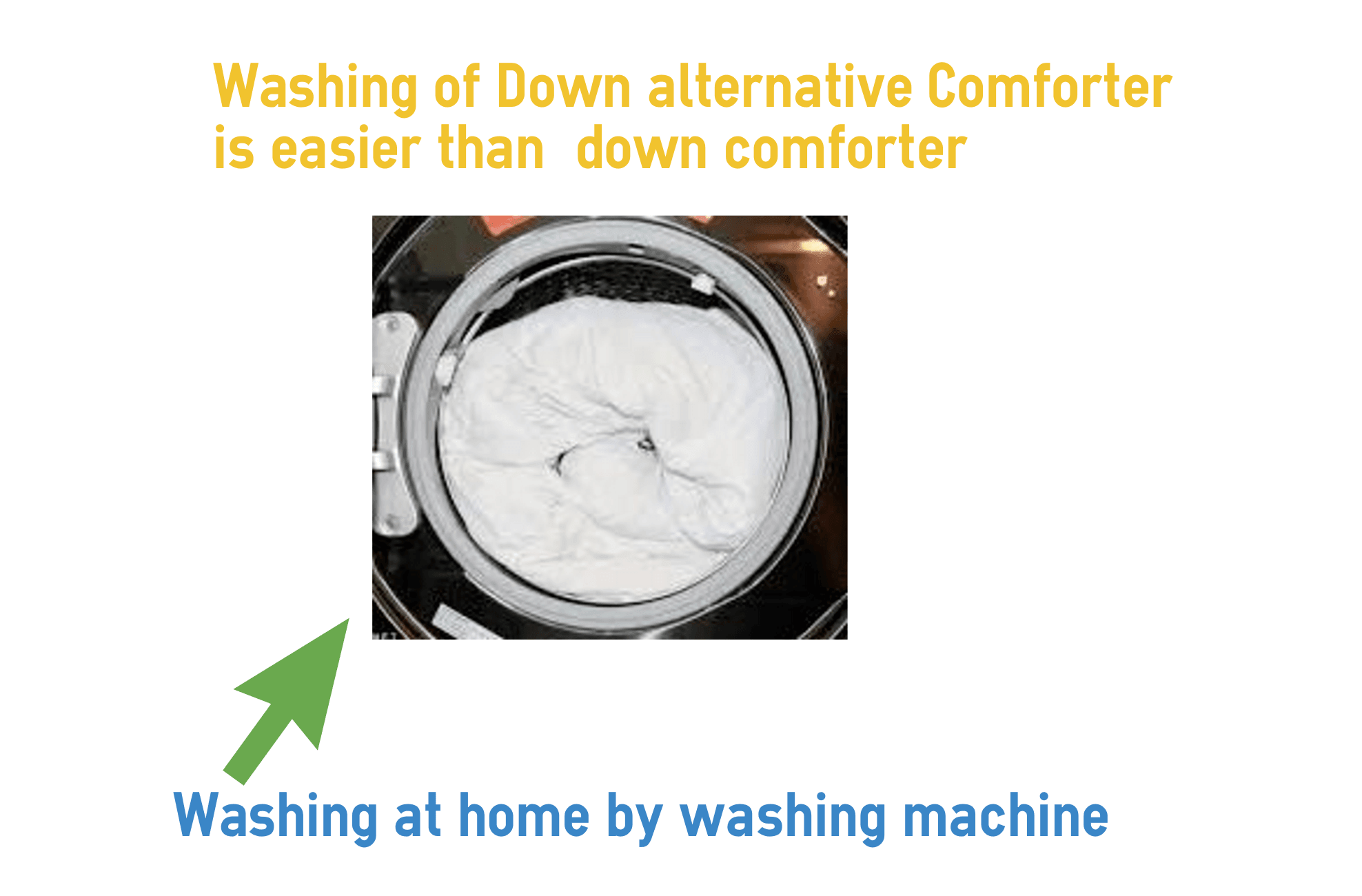 washing of down alternative comforter is easier