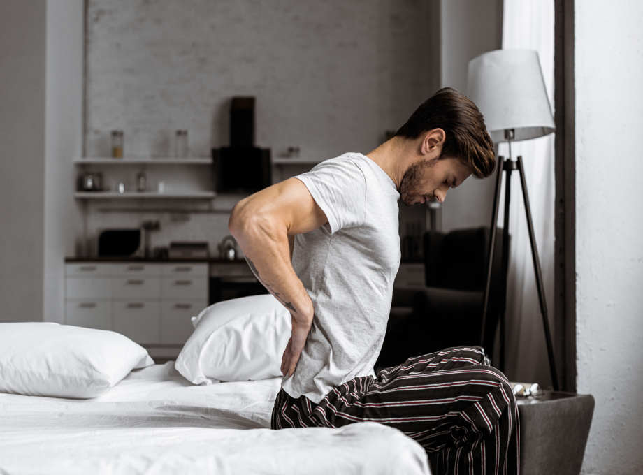 platform bed is uncomfortable for people having knee and back pain