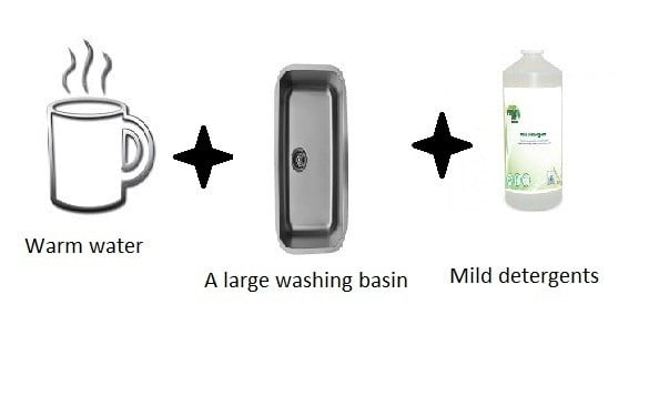 Required Items for Hand Washing Method for bamboo pillows