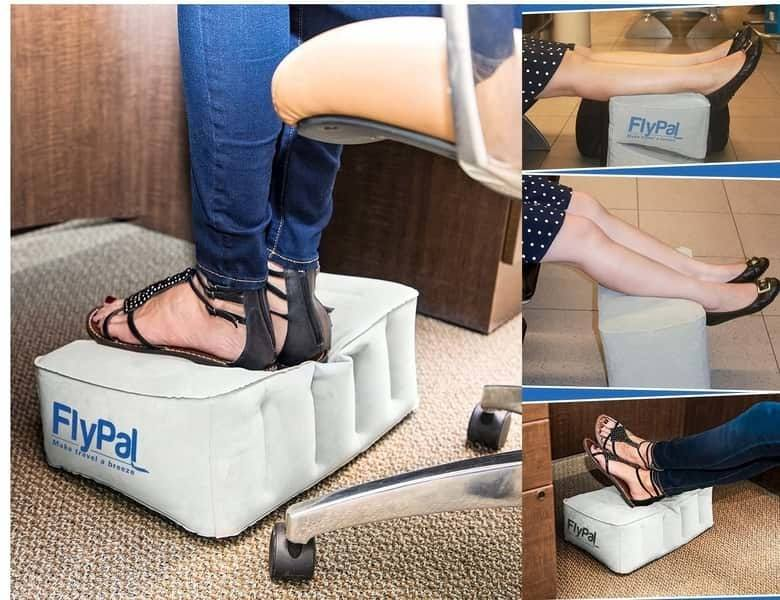 How to place foot on Flypal foot rest pillow